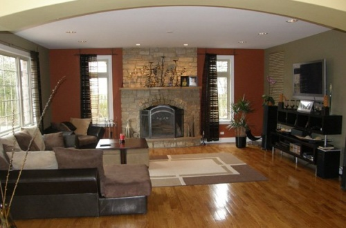 e_Spacious Family room with beautiful stone fireplace
