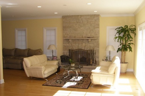 f_Wonderful family room with gas fireplace and gorgeous stone mantle