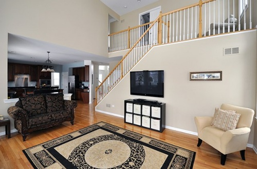 h. 2 Story Family Room with 2nd Staircase
